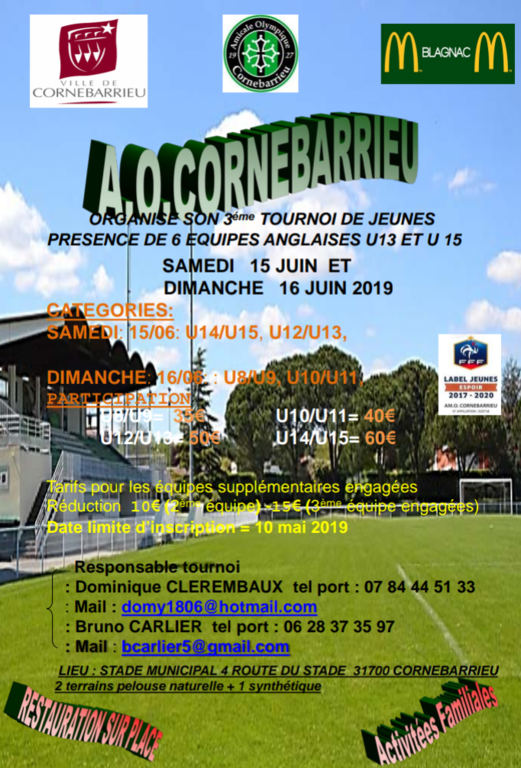 Tournoi international  de Cornebarrieu